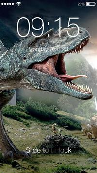 Raptor Dinosaur Screen Lock poster