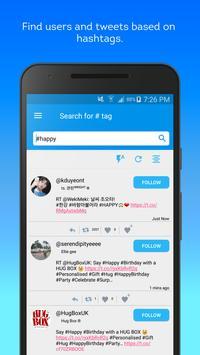 Hashtag Users - Twitter management tools Plakat