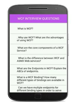 WCF Interview Questions and answers poster