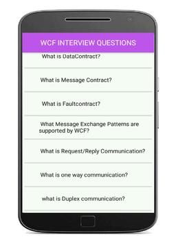 WCF Interview Questions and answers apk screenshot