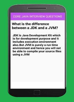 core java interview questions apk screenshot