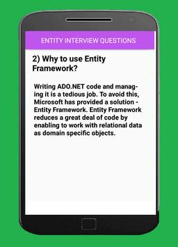 ENTITY FRAMEWORK INTERVIEW QUESTIONS apk screenshot