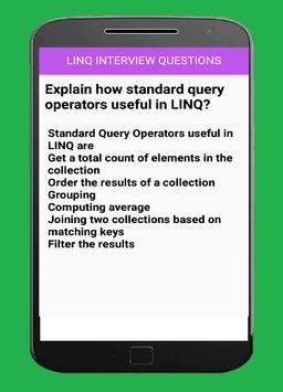 LINQ Interview Questions apk screenshot