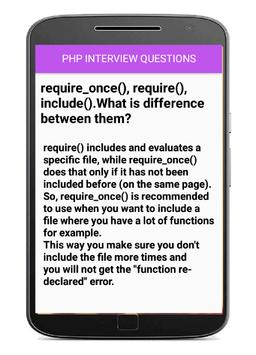php interview questions screenshot 2