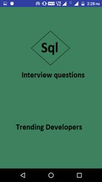 SQL Interview Questions and answers poster