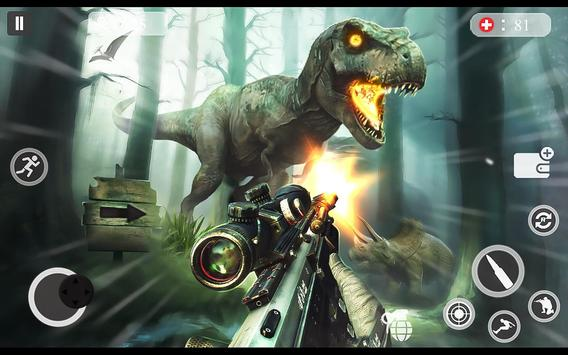 ألعاب الديناصور مطاردة 2018 - لعبة اطلاق النار دين الملصق