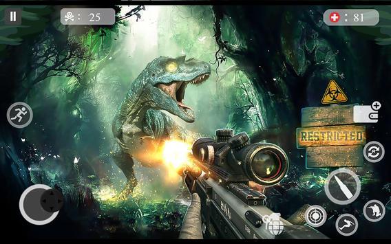 ألعاب الديناصور مطاردة 2018 - لعبة اطلاق النار دين تصوير الشاشة 11