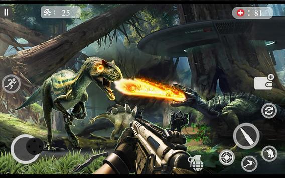 ألعاب الديناصور مطاردة 2018 - لعبة اطلاق النار دين تصوير الشاشة 15