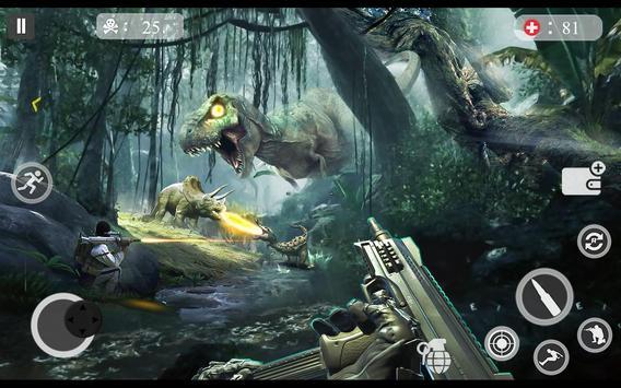ألعاب الديناصور مطاردة 2018 - لعبة اطلاق النار دين تصوير الشاشة 1