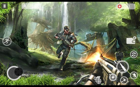 ألعاب الديناصور مطاردة 2018 - لعبة اطلاق النار دين تصوير الشاشة 2