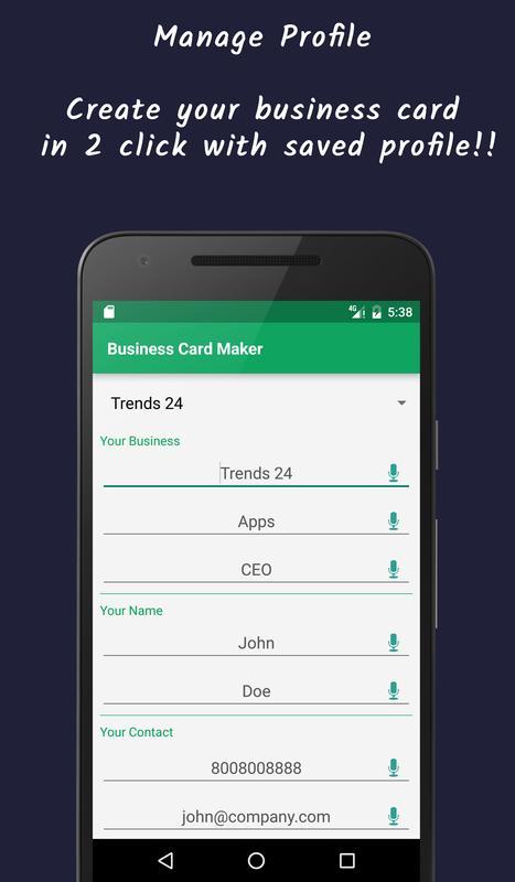 Business card maker visiting card apk download free business app business card maker visiting card apk screenshot wajeb Images