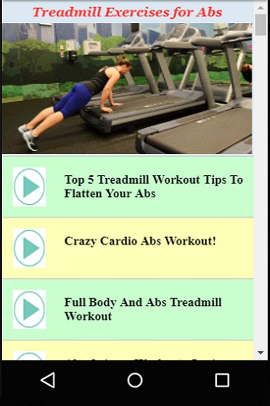 How to work out your abs on a treadmill — photo 2