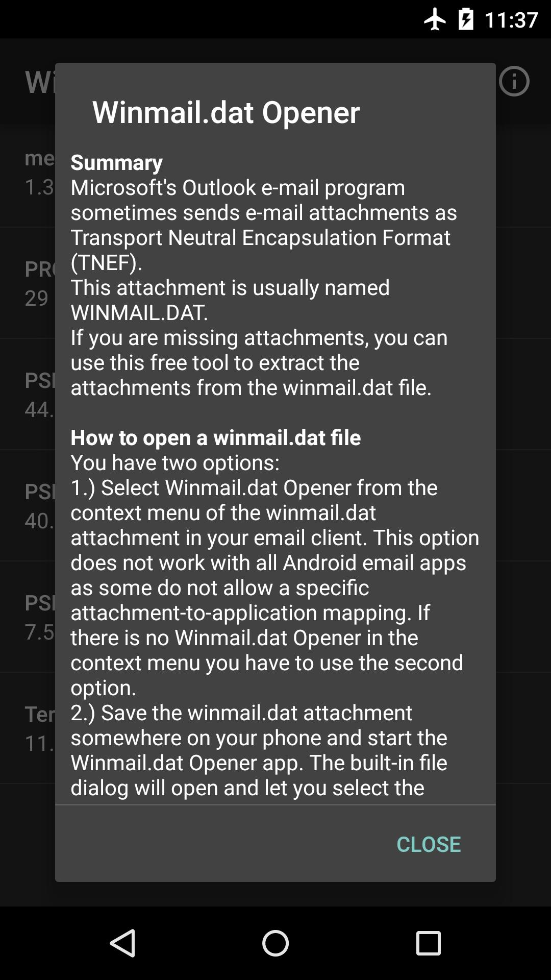 Winmail dat Opener for Android - APK Download