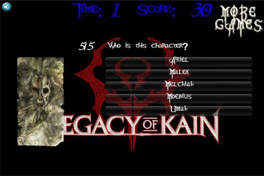 Legacy Of Kain Quiz ENGLISH poster