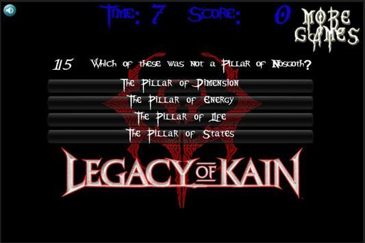 Legacy Of Kain Quiz ENGLISH screenshot 1