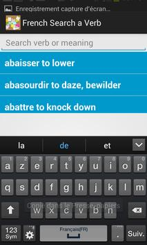 French Search a Verb screenshot 1