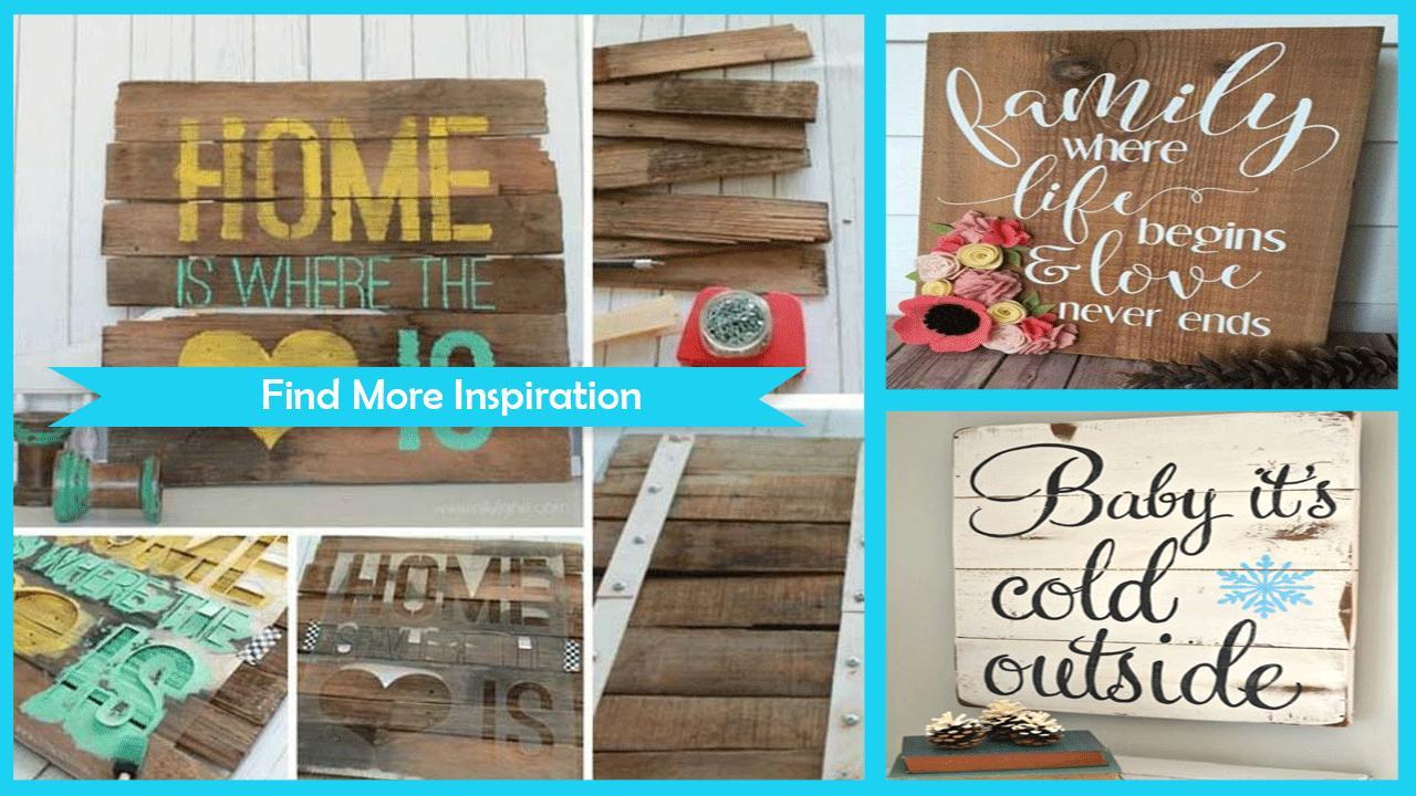 Creative DIY Wood Sign Ideas poster