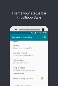 Material Status Bar poster