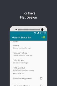 Material Status Bar screenshot 1