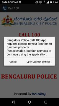 Call 100 App Bangalore Police apk screenshot