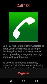 Call 100 App Bangalore Police poster