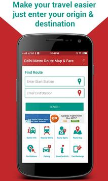 Delhi Metro Route Map & Fare, Dtc Bus Number Guide poster