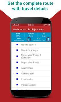 Delhi Metro Route Map & Fare, Dtc Bus Number Guide screenshot 1