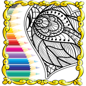 Coloring Teraphy Page For Adults icon