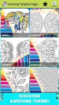 Coloring Teraphy Page For Adults poster