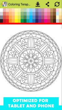 Coloring Teraphy Page For Adults apk screenshot