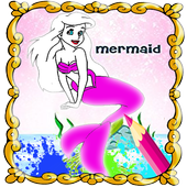 Mermaid First Coloring Book Pages icon