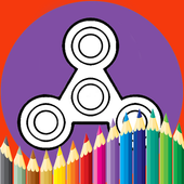 Coloring Book For Fidget Spinner icon