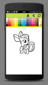 Coloring Little Pony Unicorn World screenshot 5