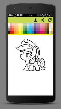 Coloring Little Pony Unicorn World screenshot 6