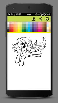 Coloring Little Pony Unicorn World screenshot 2