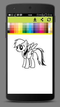 Coloring Little Pony Unicorn World screenshot 3