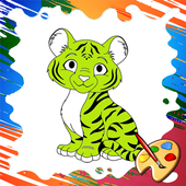 Animals Baby Kids Coloring icon