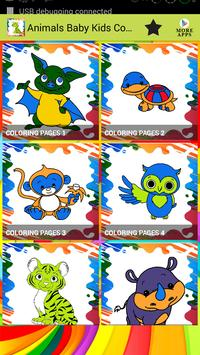 Animals Baby Kids Coloring poster