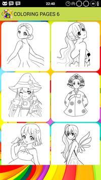 Anime Princess Coloring screenshot 3