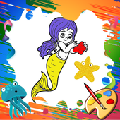Mini Mermaid Coloring Pages icon