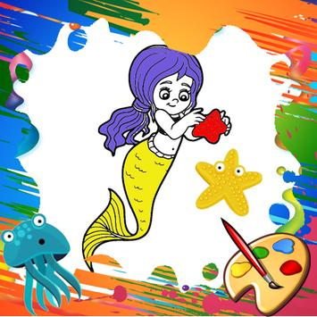 Mini Mermaid Coloring Pages poster