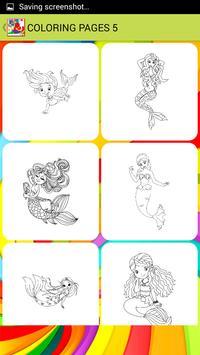 Mini Mermaid Coloring Pages apk screenshot