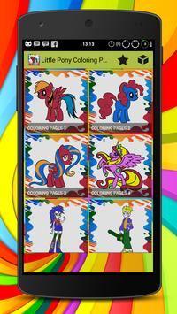 Little Pony Coloring Pages poster