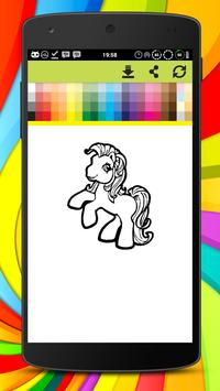 Little Pony Coloring Pages apk screenshot