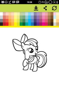 Pony Coloring Games Book Pages screenshot 4