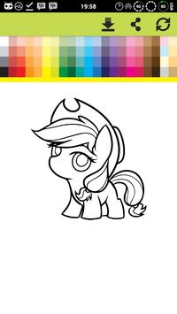 Pony Coloring Games Book Pages screenshot 5