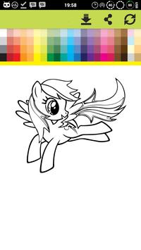 Pony Coloring Games Book Pages screenshot 2