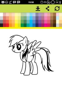 Pony Coloring Games Book Pages screenshot 3