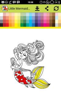 Princess Mermaid Games Coloring apk screenshot