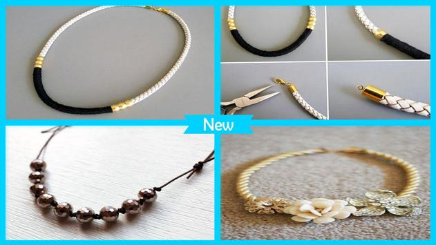 Cool DIY Leather Necklace Tutorial poster